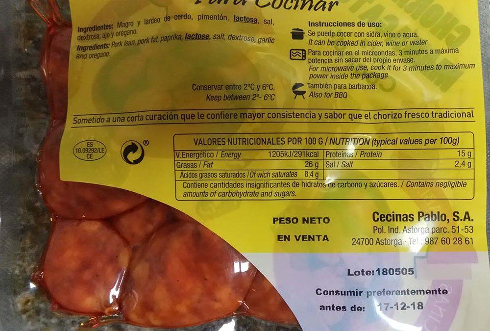 Chorizo Maragato para cocinar